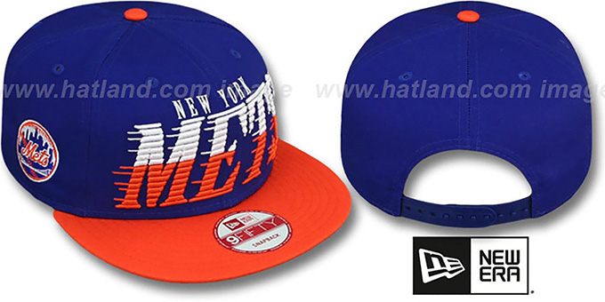 Mets 'SAILTIP SNAPBACK' Royal-Orange Hat by New Era : pictured without stickers that these products are shipped with