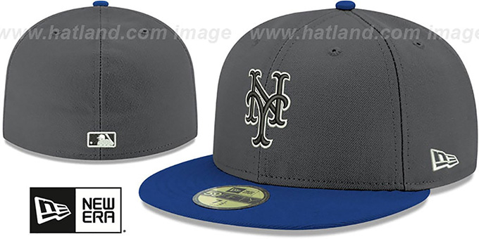 Mets 'SHADER MELT-2' Grey-Royal Fitted Hat by New Era : pictured without stickers that these products are shipped with