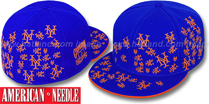 Mets 'STARSTRUCK' Royal Fitted Hat by American Needle : pictured without stickers that these products are shipped with