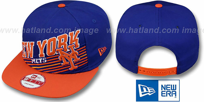 Mets 'STILL ANGLIN SNAPBACK' Royal-Orange Hat by New Era : pictured without stickers that these products are shipped with