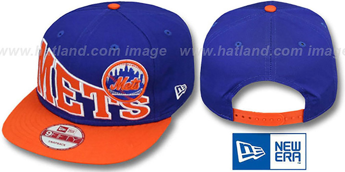 Mets 'STOKED SNAPBACK' Royal-Orange Hat by New Era : pictured without stickers that these products are shipped with