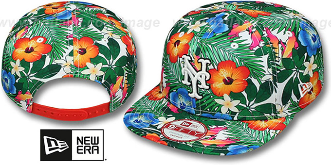 Mets 'SUNSHINE BLOOM SNAPBACK' Hat by New Era : pictured without stickers that these products are shipped with