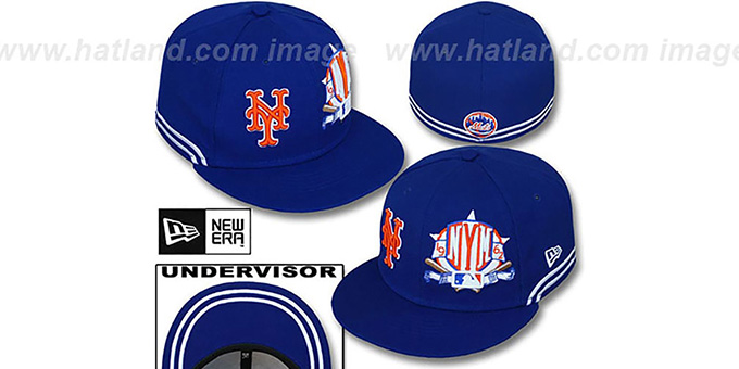 Mets 'TWO-BIT' Royal-White Fitted Hat by New Era : pictured without stickers that these products are shipped with
