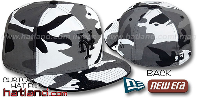 Mets 'URBAN CAMO' Fitted Hat by New Era : pictured without stickers that these products are shipped with