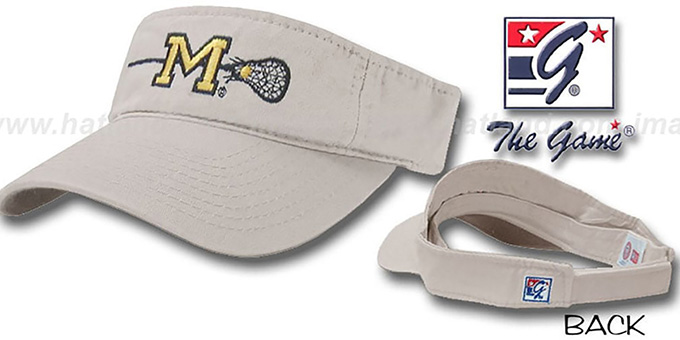 Michigan 'LACROSSE' Visor by the Game - stone : pictured without stickers that these products are shipped with