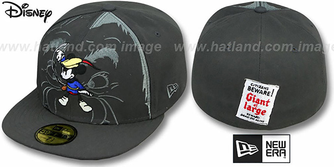 Mickey 'BRAVE LITTLE TAILOR' Grey Fitted Hat by New Era : pictured without stickers that these products are shipped with