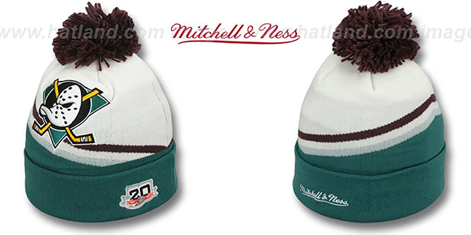 7250f01cbf5 ... amazon mighty ducks xl logo beanie home white by mitchell and ness  7101f 83e7b
