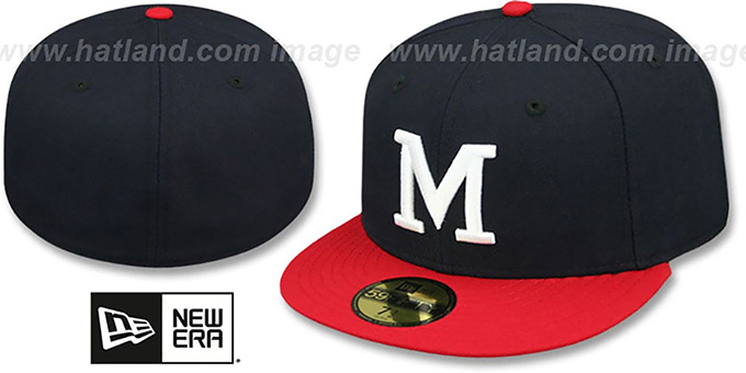 Milwaukee Braves '1965-77 COOPERSTOWN' Fitted Hat by New Era : pictured without stickers that these products are shipped with