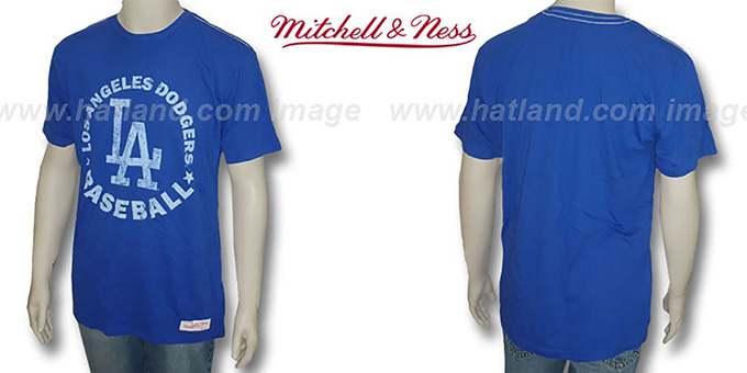 Mitchell & Ness Dodgers 'Fan Vintage' Royal T-Shirt : pictured without stickers that these products are shipped with