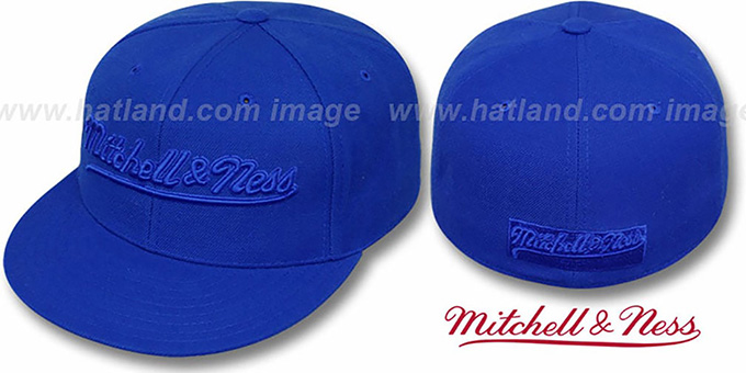 Mitchell & Ness 'ROYALOUT' Fitted Hat : pictured without stickers that these products are shipped with