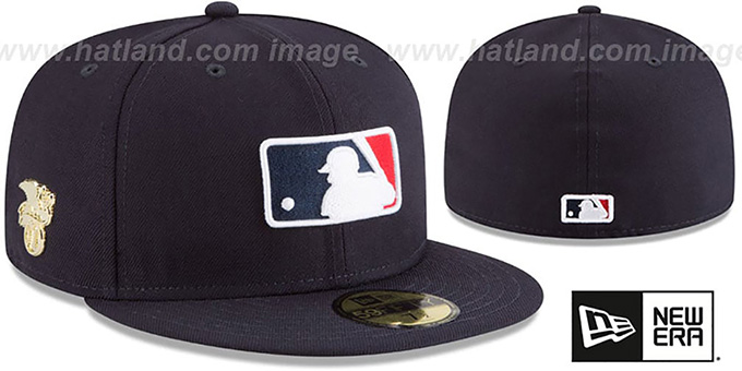 d074c4c7b2897 MLB AL Umpire GILDED TURN Navy Fitted Hat by New Era