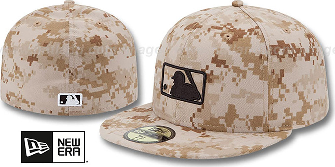 MLB Umpire 2013 'STARS N STRIPES' Desert Camo Hat by New Era : pictured without stickers that these products are shipped with