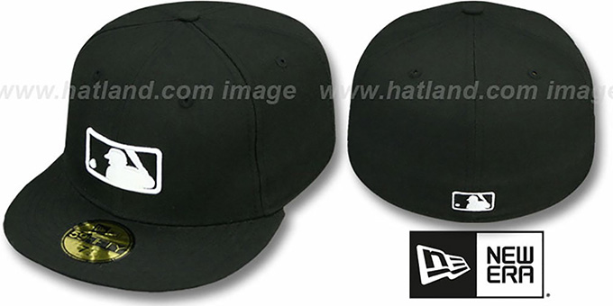 MLB 'UMPIRE' Black Hat by New Era : pictured without stickers that these products are shipped with