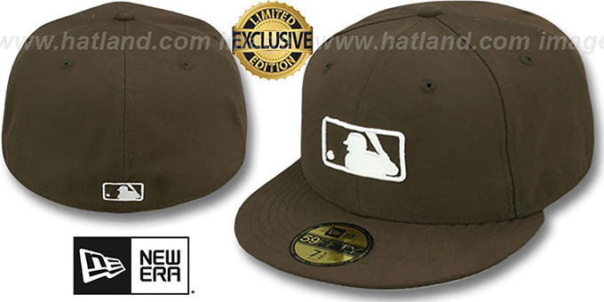 MLB 'UMPIRE FASHION' Brown Hat by New Era : pictured without stickers that these products are shipped with
