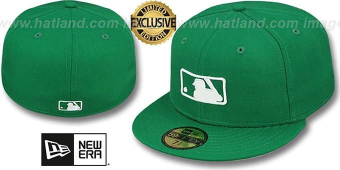 MLB 'UMPIRE FASHION' Green Hat by New Era : pictured without stickers that these products are shipped with
