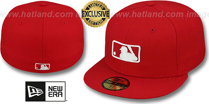 MLB 'UMPIRE FASHION' Red Hat by New Era : pictured without stickers that these products are shipped with