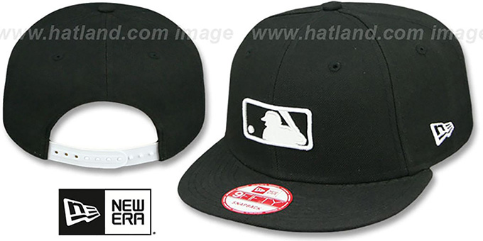 MLB Umpire 'REPLICA SNAPBACK' Black-White Hat by New Era : pictured without stickers that these products are shipped with