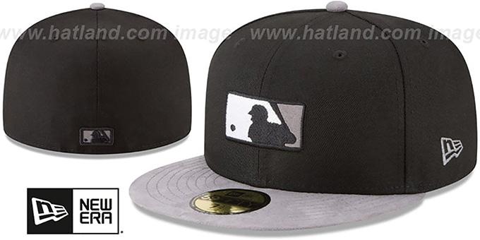 7da1bdcb86556a MLB Umpire TONAL-CHOICE Black Fitted Hat by New Era