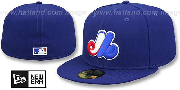 Montreal Expos 'HOME' Fitted Hat by New Era : pictured without stickers that these products are shipped with