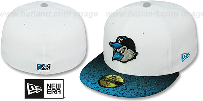 Mudhens 'GRADIENT HOOK' Fitted Hat by New Era : pictured without stickers that these products are shipped with