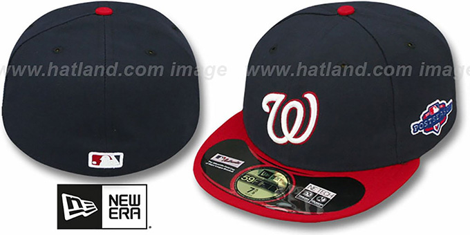 Nationals 2012 'PLAYOFF ALTERNATE' Hat by New Era : pictured without stickers that these products are shipped with