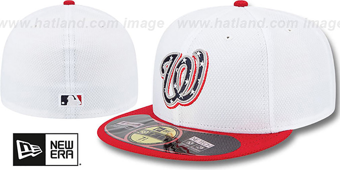 Nationals 2013 'JULY 4TH STARS N STRIPES' Hat by New Era : pictured without stickers that these products are shipped with