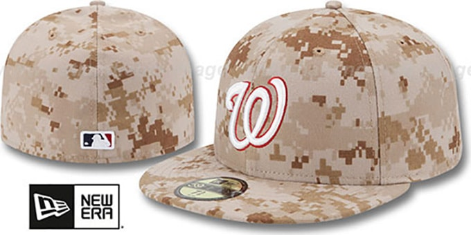 Washington Nationals 2013 STARS N STRIPES Desert Camo Hat 40b88cae83f
