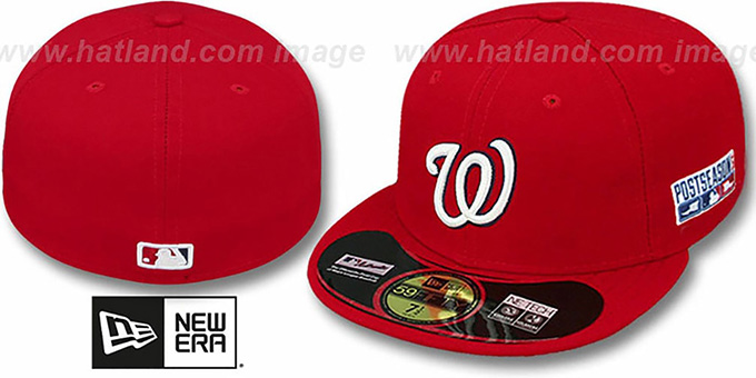Nationals '2014 PLAYOFF GAME' Hat by New Era : pictured without stickers that these products are shipped with