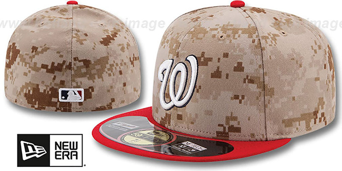 Nationals '2014 STARS N STRIPES' Fitted Hat by New Era : pictured without stickers that these products are shipped with