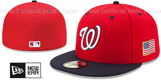 Nationals '2015 STARS-N-STRIPES 911 ALT-2' Hat by New Era : pictured without stickers that these products are shipped with