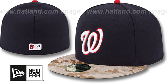 Nationals '2015 STARS N STRIPES' Fitted Hat by New Era : pictured without stickers that these products are shipped with