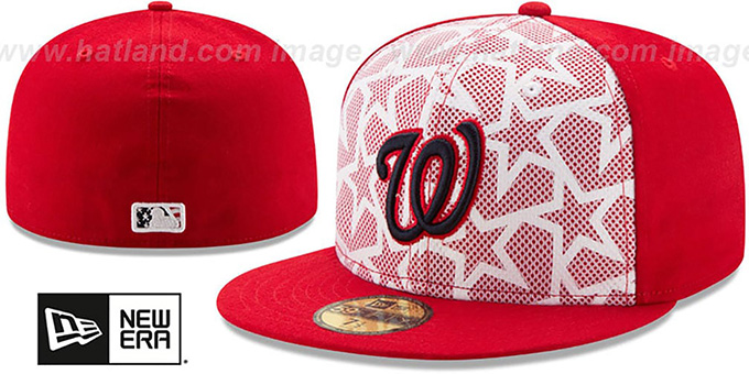 Nationals '2016 JULY 4TH STARS N STRIPES' Fitted Hat by New Era : pictured without stickers that these products are shipped with