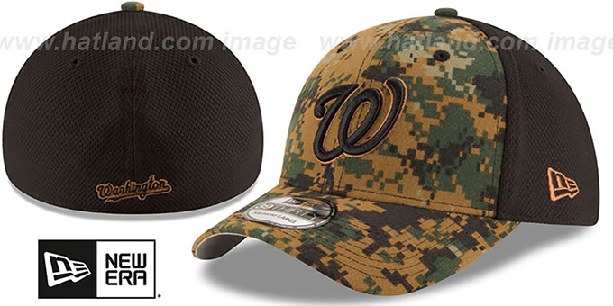 Nationals 2016 MEMORIAL DAY 'STARS N STRIPES FLEX' Hat by New Era : pictured without stickers that these products are shipped with