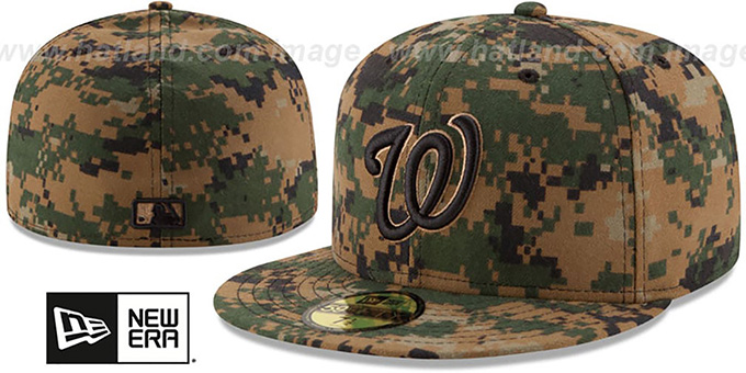 Nationals 2016 MEMORIAL DAY 'STARS N STRIPES' Hat by New Era : pictured without stickers that these products are shipped with