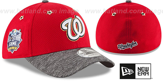 Nationals '2016 MLB ALL-STAR GAME FLEX' Hat by New Era : pictured without stickers that these products are shipped with