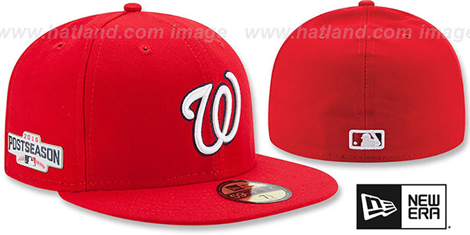 Nationals 2016 'PLAYOFF GAME' Hat by New Era : pictured without stickers that these products are shipped with
