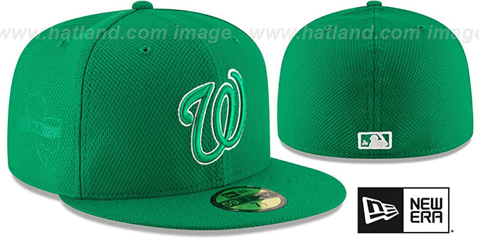 Nationals '2016 ST PATRICKS DAY' Hat by New Era : pictured without stickers that these products are shipped with