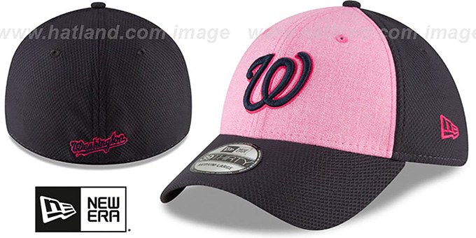 48ac68026 Washington Nationals 2018 MOTHERS DAY FLEX Pink-Navy Hat by New Era