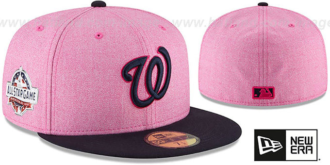 69deac2fd4e04 Nationals  2018 MOTHERS DAY  Pink-Navy Fitted Hat by New Era