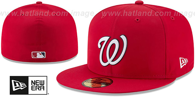 Nationals '2018 PROLIGHT-BP' Red Fitted Hat by New Era