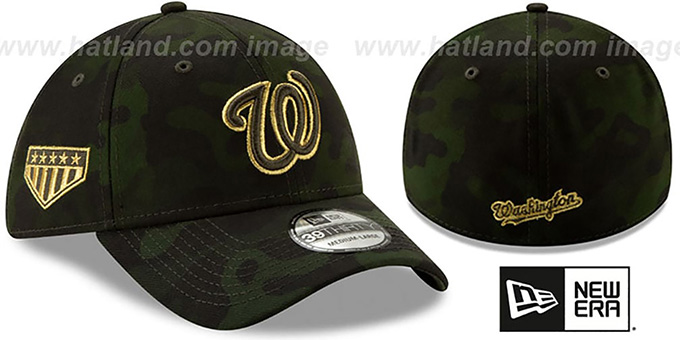 Nationals 2019 ARMED FORCES 'STARS N STRIPES FLEX' Hat by New Era