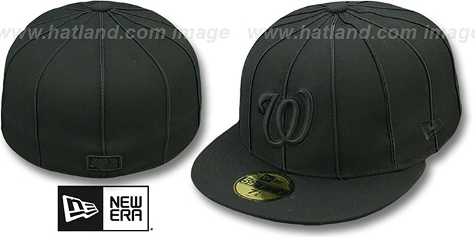 Nationals 'BLACKOUT 12-PACK' Fitted Hat by New Era : pictured without stickers that these products are shipped with