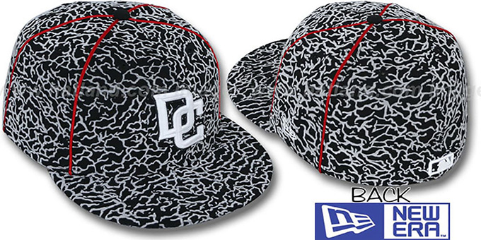 Nationals 'CEMENT ALL-OVER' Fitted Hat by New Era : pictured without stickers that these products are shipped with
