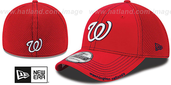 c7744ab8086f01 Nationals 'CONTRAST NEO MESH' Red Flex Hat by New Era
