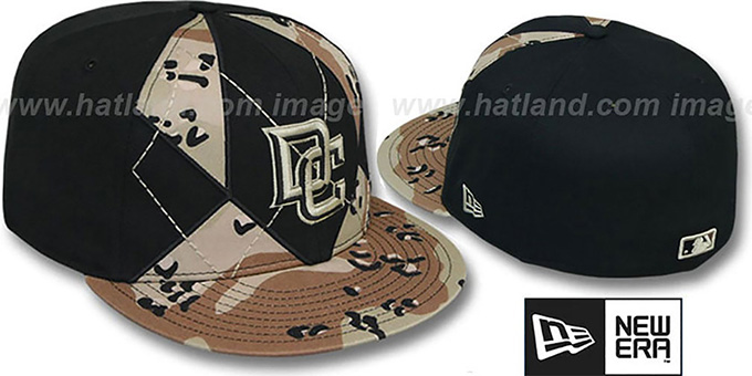Nationals 'DESERT STORM CAMO BRADY' Fitted Hat by New Era : pictured without stickers that these products are shipped with