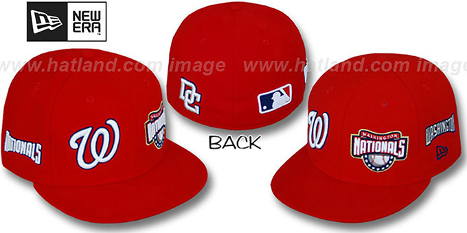 Nationals 'EVOLUTION' Fitted Hat by New Era - red : pictured without stickers that these products are shipped with