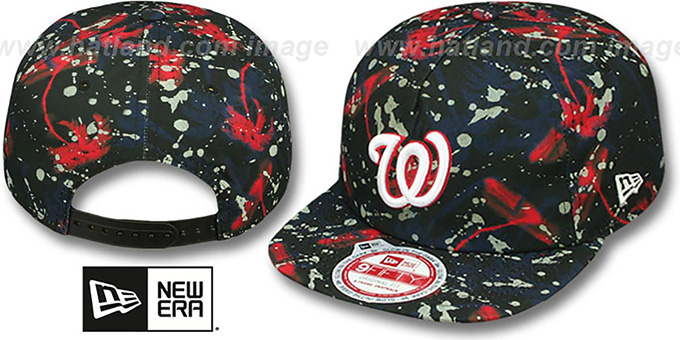 Nationals 'GLOWSPECK SNAPBACK' Hat by New Era : pictured without stickers that these products are shipped with