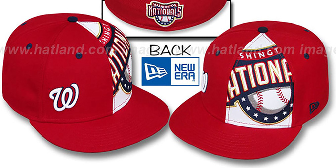 Nationals 'MASCOT-ZOOM' Red Fitted Hat by New Era