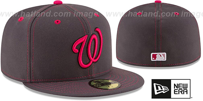 Nationals 'MOTHERS DAY' Fitted Hat by New Era : pictured without stickers that these products are shipped with