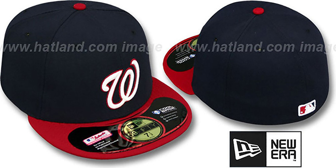Nationals 'PERFORMANCE' ALTERNATE Hat by New Era : pictured without stickers that these products are shipped with